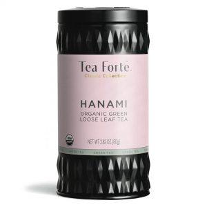Hanami Losse thee blaadjes in elegante theebus
