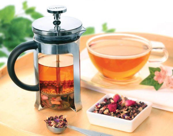 Thee pers voor losse theeblaadjes van Tea Forté