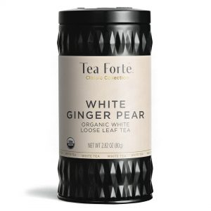 White ginger pear Losse thee blaadjes in elegante theebus (gember peer)