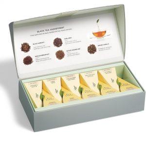 Zwarte thee tasting assortiment klein van Tea Forté in luxe doos