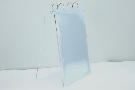 Tafel flip-over A4 staand  transparant