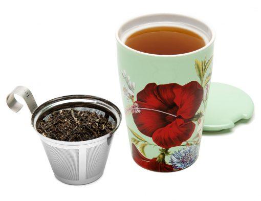 Kati Fleur cadeauset: Kati mok met single steeps losse thee Fleur