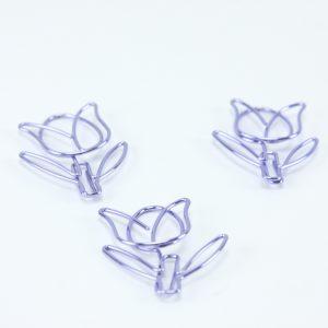 Paarse tulp paperclip (5 stuks)