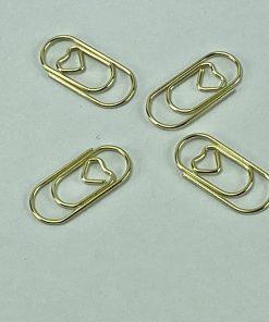 Mini paperclips met hartje (25 stuks)