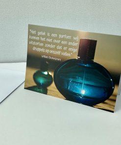Inspiratiekaart Geluk is een parfum